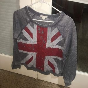 Sweatshirt with UK Flag